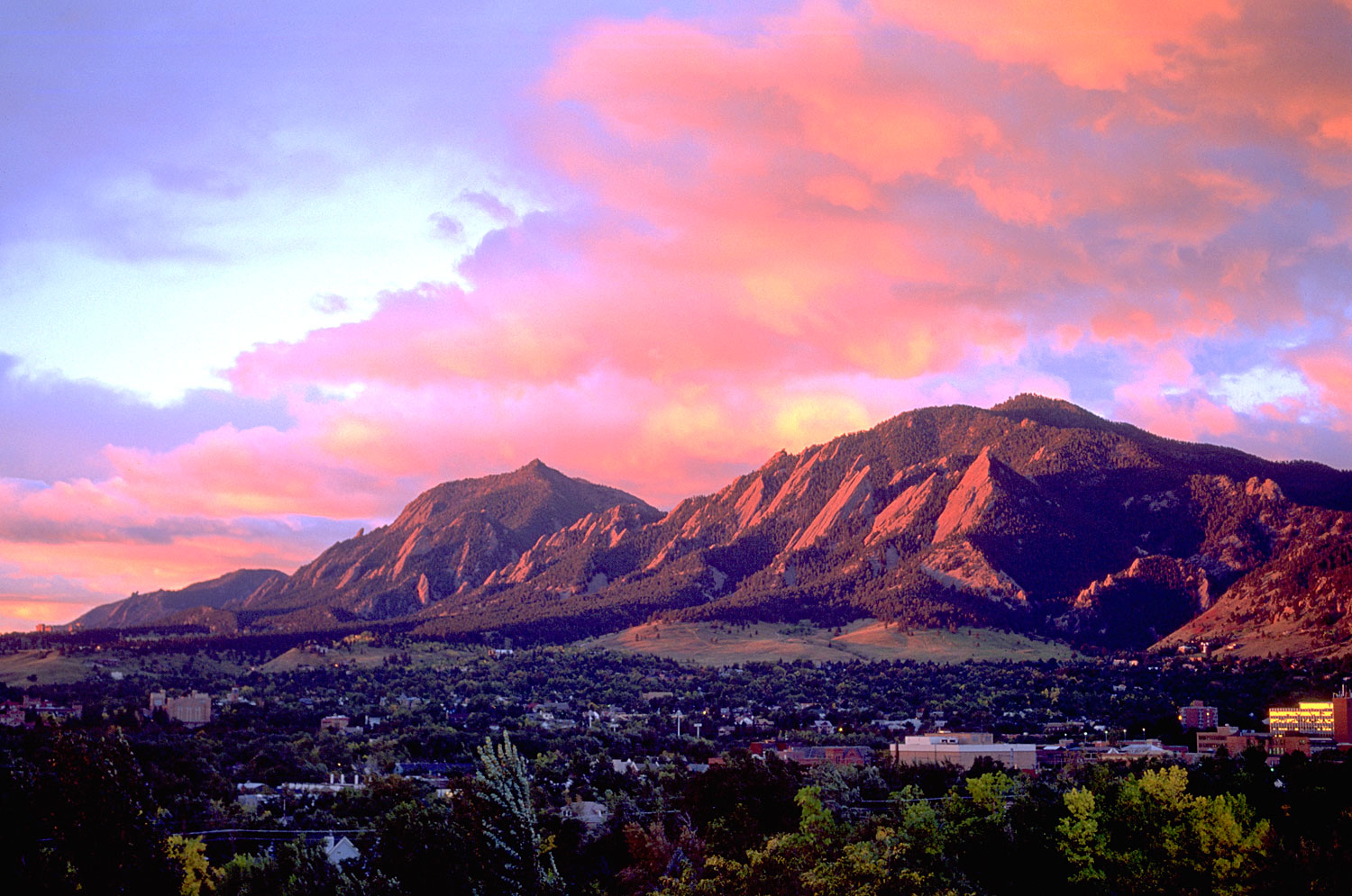 boulder colorado and flatirons